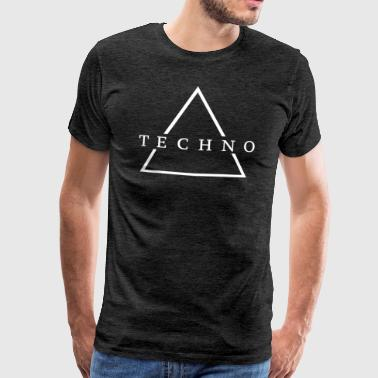 Technodriehoek (wit) - Mannen Premium T-shirt