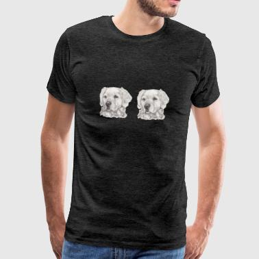 Licence panorama golden retriever - T-shirt Premium Homme