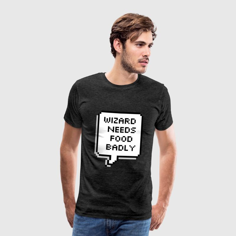 wizard needs food badly t shirt spreadshirt