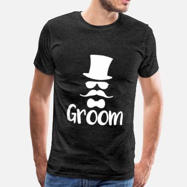 Hipster Stag Night Party Team Groom Bachelor Party JGA Bräutigam Jungeselle - Men's Premium T-Shirt