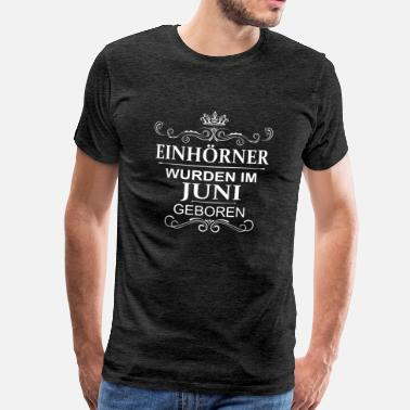 June June Unicorns - Herre premium T-shirt