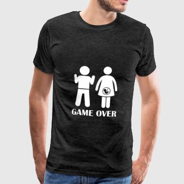 GAME OVER Pregnant - Men's Premium T-Shirt