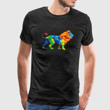 Colorful Lion - Triangle attractie - Mannen Premium T-shirt