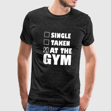 Single Taken at the Gym - Men's Premium T-Shirt