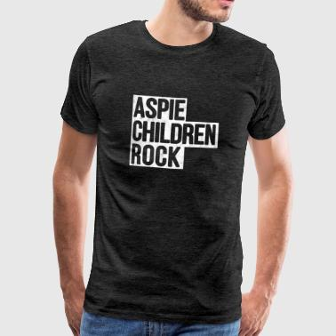 Aspie Aspie Children's Rock Aspergers Shirt - Men's Premium T-Shirt