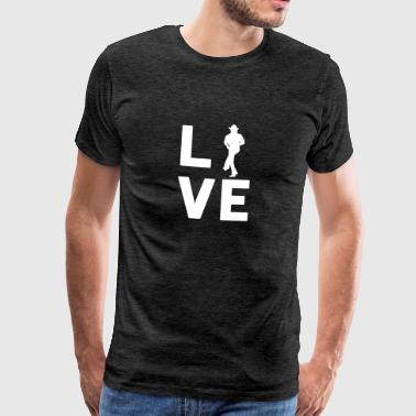 Dance With Me LINE DANCE LOVE - Grafisk skjorte - Premium T-skjorte for menn