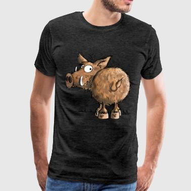 Sanglier Funny Wild Boar - T-shirt Premium Homme