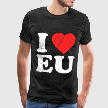 I Love House I Love EU - Men's Premium T-Shirt
