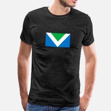 Vegane Flagge Internationale Flaggen vegan - Männer Premium T-Shirt
