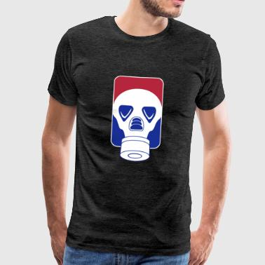 league_gas mask_vec_3 de - Männer Premium T-Shirt