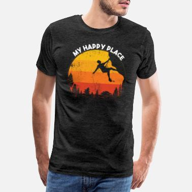 Bouldering My happy place - Men's Premium T-Shirt