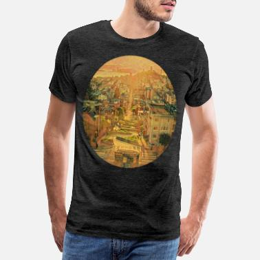 Cable Car Lombard Street, San Francisco - Men's Premium T-Shirt