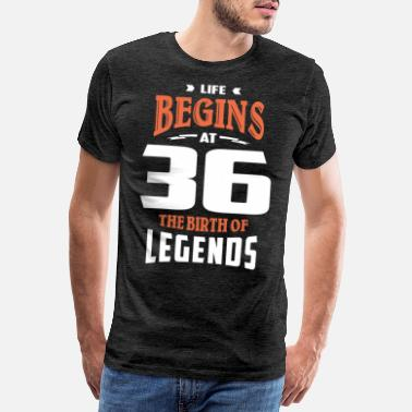 36 Life Begins At 36 - Men's Premium T-Shirt