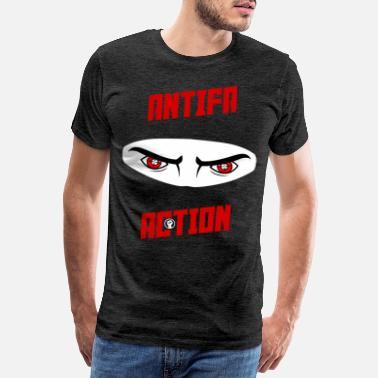 Antifascist Antifa Action - Ninja (III) - Men's Premium T-Shirt