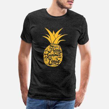 Pulp Pineapple summer taste fresh retro - Men's Premium T-Shirt