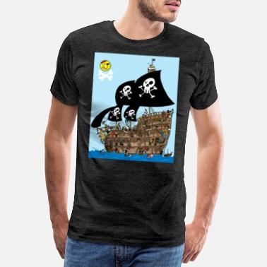 Pirate Ship Pirate Ship Puzzle - Men's Premium T-Shirt