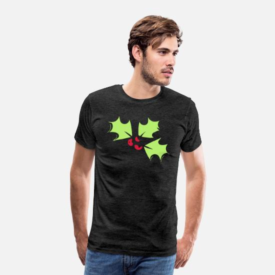 Plant T-Shirts - holly - Men's Premium T-Shirt charcoal grey