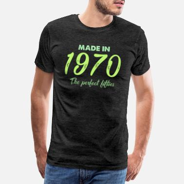 Decade Anniversary gift T-shirt 50 years Made in 1970 - Men's Premium T-Shirt