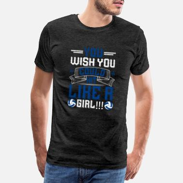Volley Volleyball - You wish you could hit like a girl - Männer Premium T-Shirt
