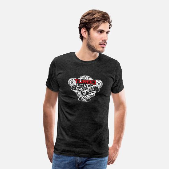 Drifting T-Shirts - Tuning Tuner Turbo Turbocharger Boost Auto - Men's Premium T-Shirt charcoal grey
