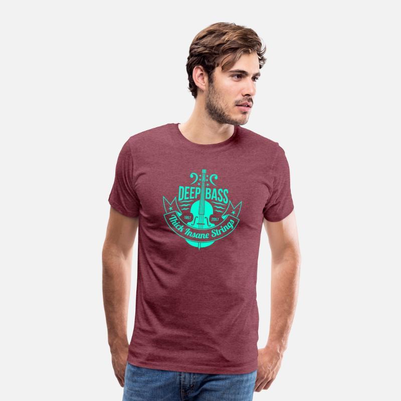deep bass music band 34 F Men's Premium T-Shirt - heather burgundy