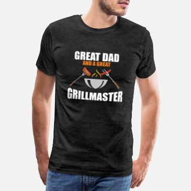 Grillwuerstchen Great Dad and a great Gillmaster Grill Papa - Men's Premium T-Shirt