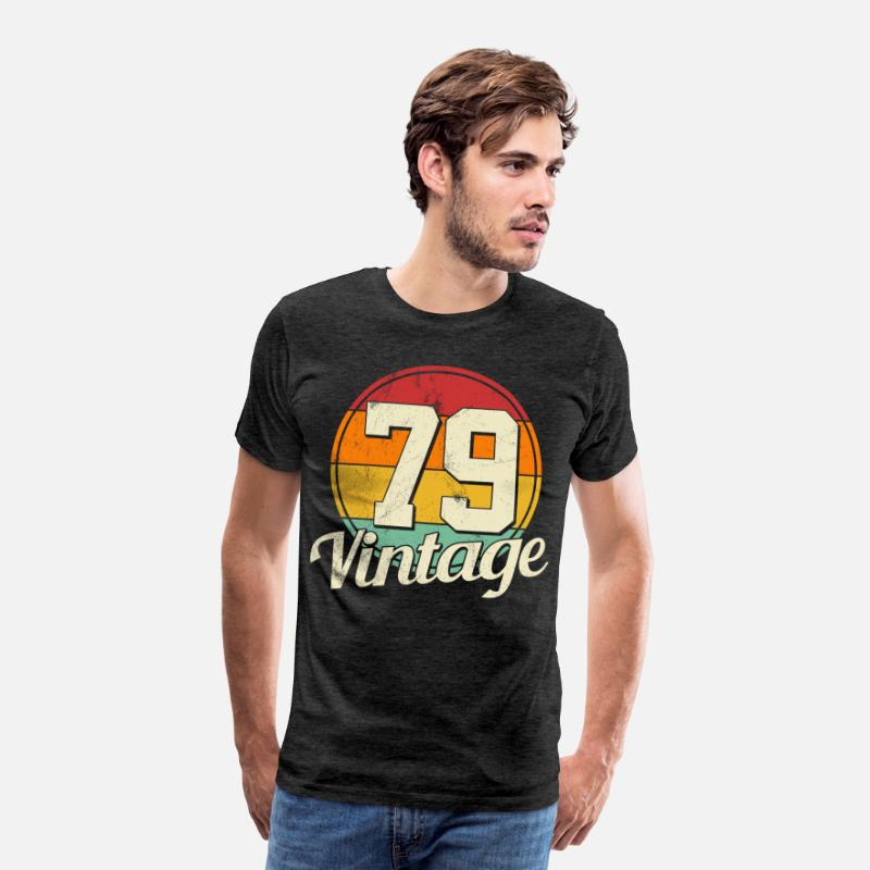 1979 T-shirt - 40th Birthday - Vintage 1979 Gift - Premium T-shirt mænd charcoal