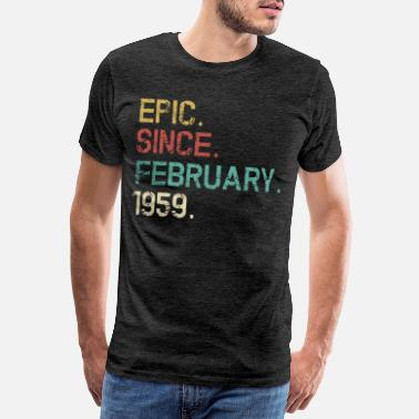 Birthday 1959 February 1959 - 60th Birthday Vintage Gift - Men's Premium T-Shirt
