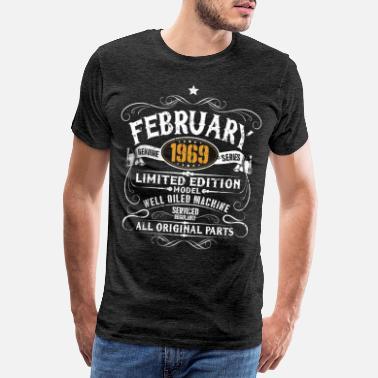 1969 Février 1969 - Cadeau vintage du 50ème anniversaire - T-shirt Premium  Homme dd5f3a856cc