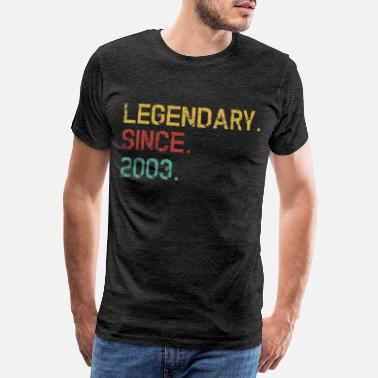 Birth Year Legendary since 2003 - 16th birthday gift - Men's Premium T-Shirt