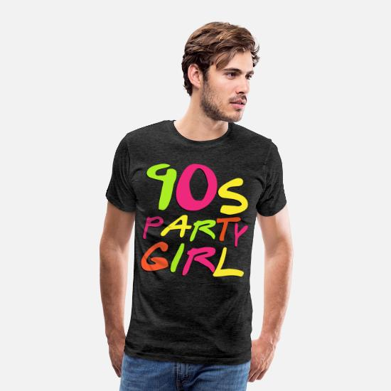 90er T-Shirts - 90er Jahre Party Girl - Männer Premium T-Shirt Anthrazit