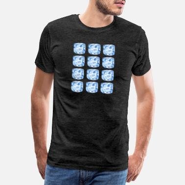 Spray Cube Ice Patten - pattern - Men's Premium T-Shirt