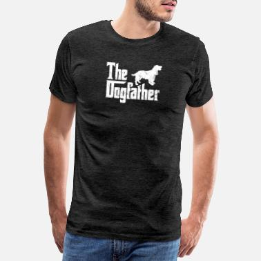 Cocker Cocker Spaniel T-Shirt The Dogfather Funny Dog Own - Men's Premium T-Shirt