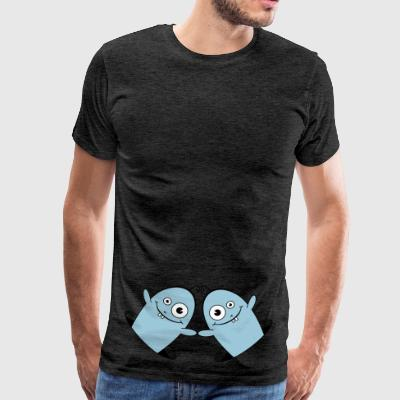 WILLY the friendly Worm 2 AllroundDesigns - Men's Premium T-Shirt