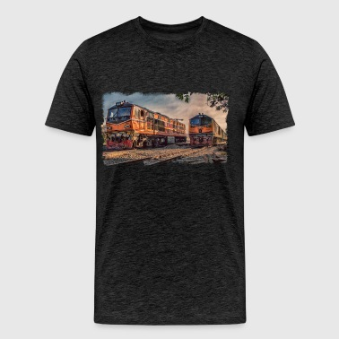 Thai locomotives - Men's Premium T-Shirt