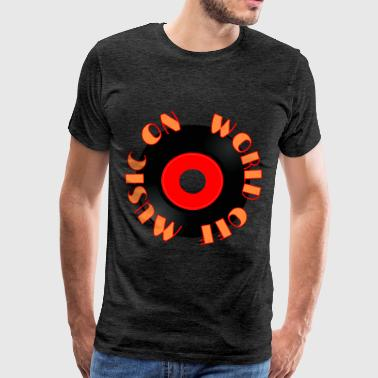 MUSIC_ON - Mannen Premium T-shirt