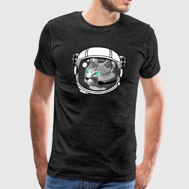 kosmonaut_katze Astronaut all above ground hipster - Men's Premium T-Shirt