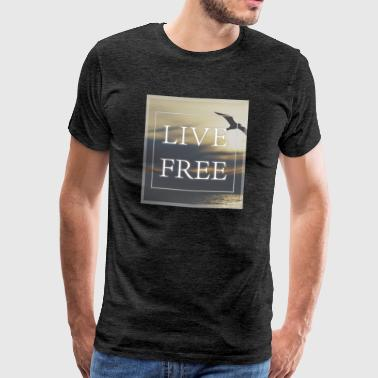 Live Free - Flying - Men's Premium T-Shirt
