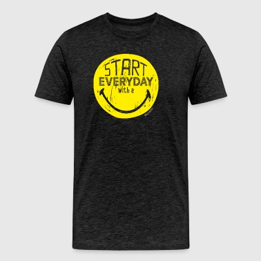 SmileyWorld Start everyday with a Smile - T-shirt Premium Homme