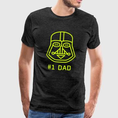 dad vater best fun maske Darth vader star war fan - Männer Premium T-Shirt