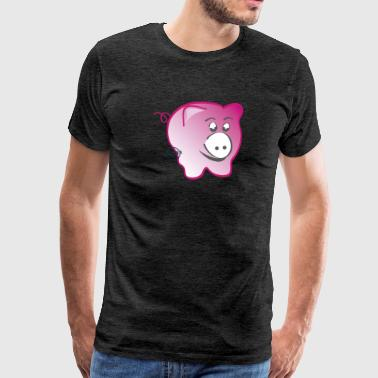 Pig - Symbols of Happiness - Men's Premium T-Shirt