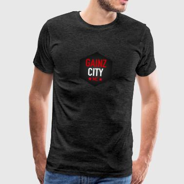 GAINZ CITY - MC - Herre premium T-shirt