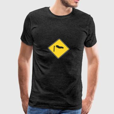 Sign winderige weg - Mannen Premium T-shirt