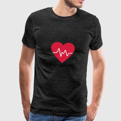 Coeur de Salt Lake City - T-shirt Premium Homme