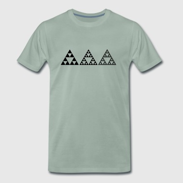 Sierpinski triangles, fractal, geometry, - Men's Premium T-Shirt