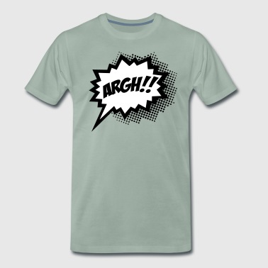 Comic ARGH!, Super Hero, Cartoon, Speech Bubble - Miesten premium t-paita
