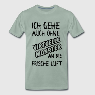Virtuelle Monster - Männer Premium T-Shirt