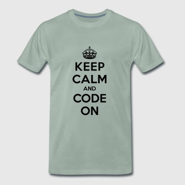 Keep calm and code on - Mannen Premium T-shirt