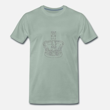 Elisabeth Ii Crown - Men's Premium T-Shirt