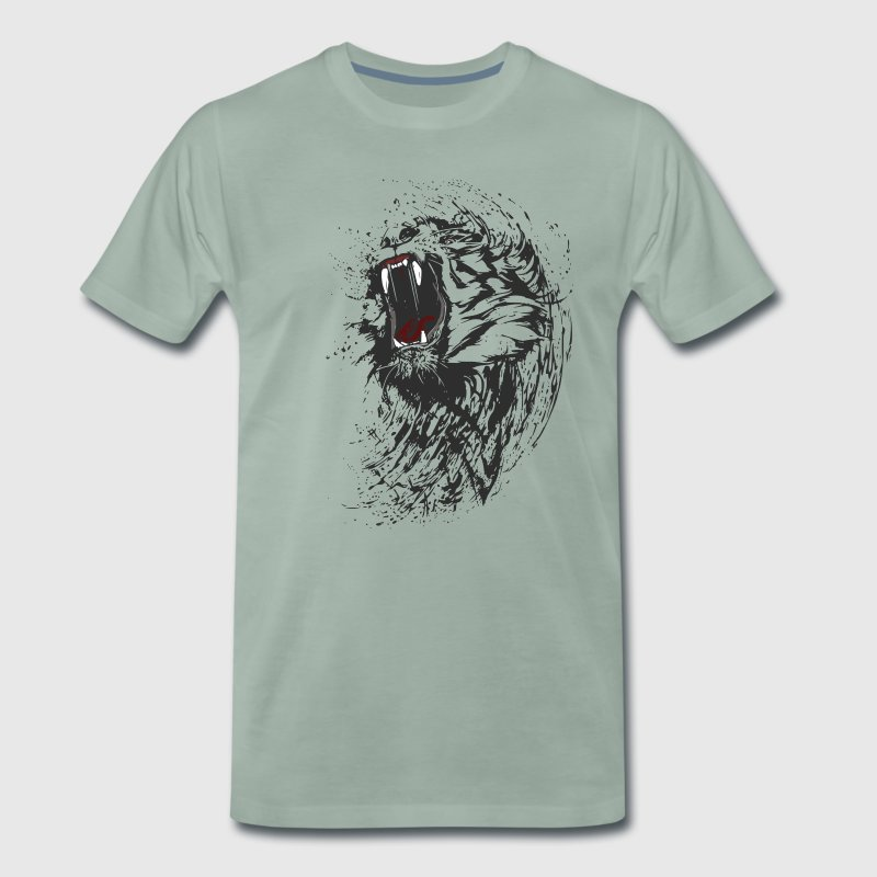 tiger wild black löwe biss cool blut gang man fun - Männer Premium T-Shirt